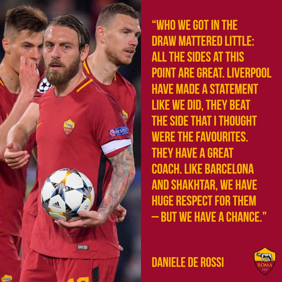 💬 | Respect for everyone. Fear of no-one. 💪  #ASRoma #UCL #UCLdraw