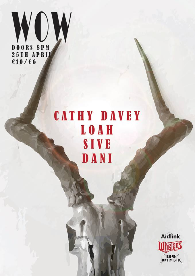 #Tonight WOW w/ CATHY DAVEY, DANI, SIVE &amp; LOAH + MC EVE DARCY  Whelan's Upstairs, 8pm   €10   http://www. whelanslive.com/index.php/wow- women-on-wednesdays-ft-cathy-davey/ &nbsp; …  @AidlinkIreland @bornoptimistic @DANI__official @SiveMusic @musicbyloah @cathy_davey @EveDarcy1<br>http://pic.twitter.com/IYQAQQcuMi