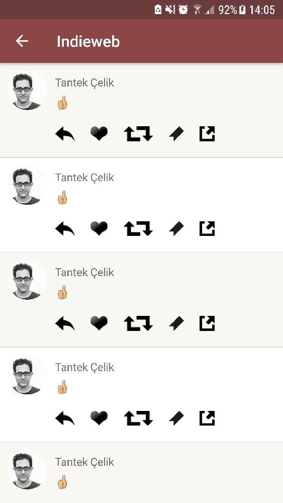 screenshot of a reader showing a series of thumbs-up likes lacking context