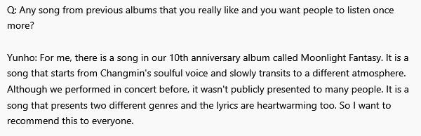 Q: Any song from previous albums that you really like and you want people to listen once more? https://t.co/dy3S9OKngT