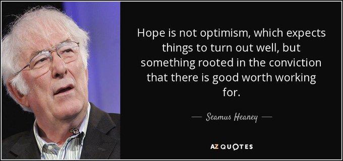 Happy Birthday to Irish poet, Seamus Heaney (1939).