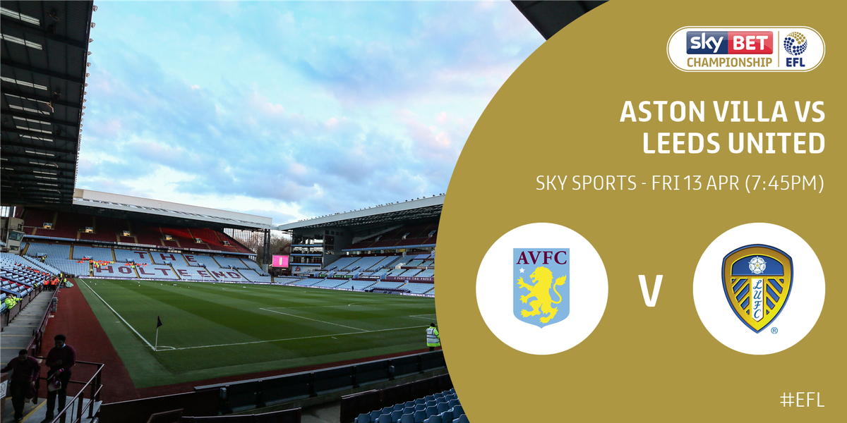 📺 @SkyBetChamp action on @SkyFootball tonight. @AVFCOfficial versus @LUFC gets the weekend going.