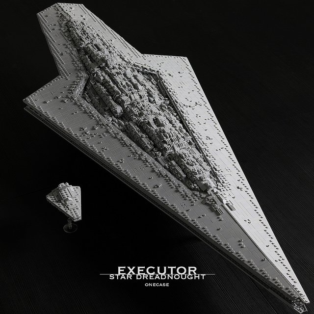 &quot;50-inch-long Executor-class Star Dreadnought is a monochrome monstrosity in search of Rebel forces&quot; | What will you build with 7300 light bluish grey #LEGO pieces? Star Wars fan @0necase uses ... -  https://www. brothers-brick.com/2018/04/13/50- inch-long-executor-class-star-dreadnought-is-a-monochrome-monstrosity-in-search-of-rebel-forces/ &nbsp; …  | #Microscale #StarWars #TheEmpireStrikesBack #Models<br>http://pic.twitter.com/oUYlCRbIXb