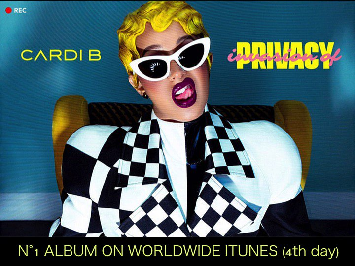 #CardiBs #InvasionofPrivacy is back atop the Worldwide iTunes Album chart for a 4th day!👏1⃣🌎🎵🔥👑 #SuperJuniors #REPLAY debuts at #2! #TheWeeknds #MyDearMelancholy holds at #3 and #EXOCBXs #BloomingDays slips 3 spots to #4 after debuting at #1! facebook.com/worldmusicawar…