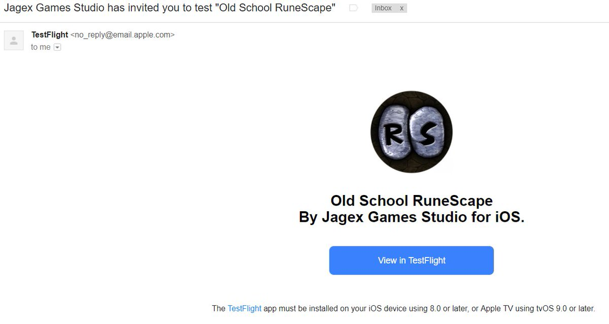 Old school runescape on twitter all 5431 invited players have an its sent to the email provided in your sign up form this may not be the same email you received your invite onor the email linked to your rs stopboris Choice Image