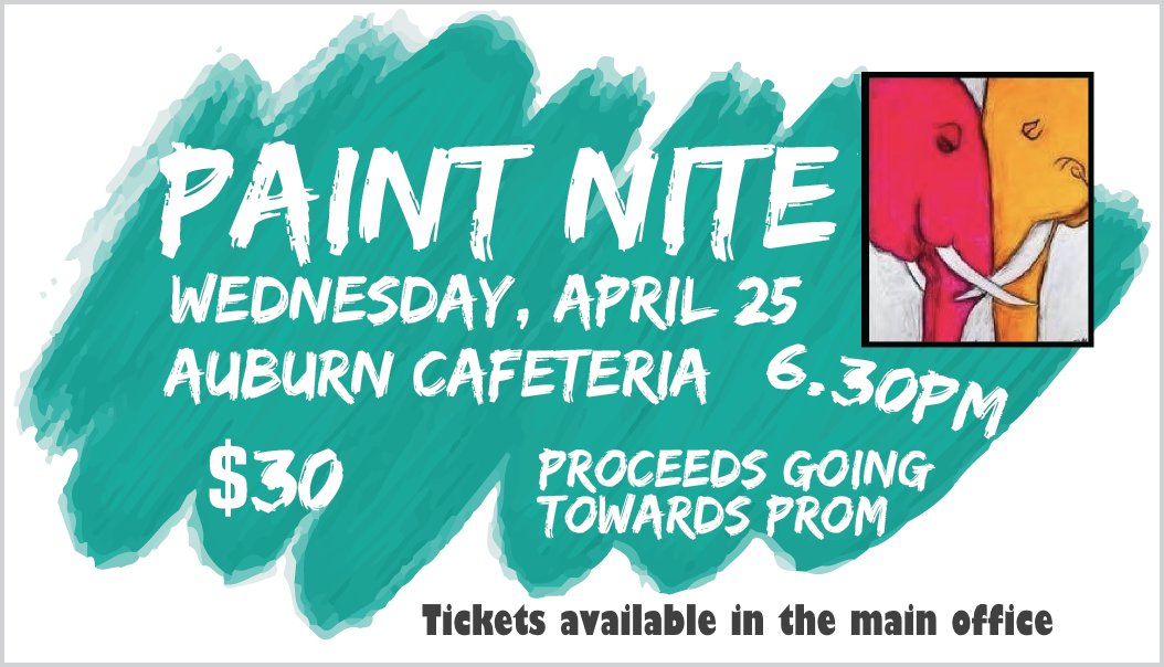 Auburn Eagles On Twitter Paint Nite For Prom On Wed April 25