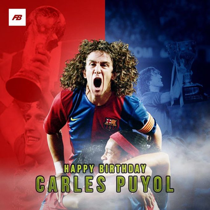 Happy birthday to Carles Puyol! One of the true greats