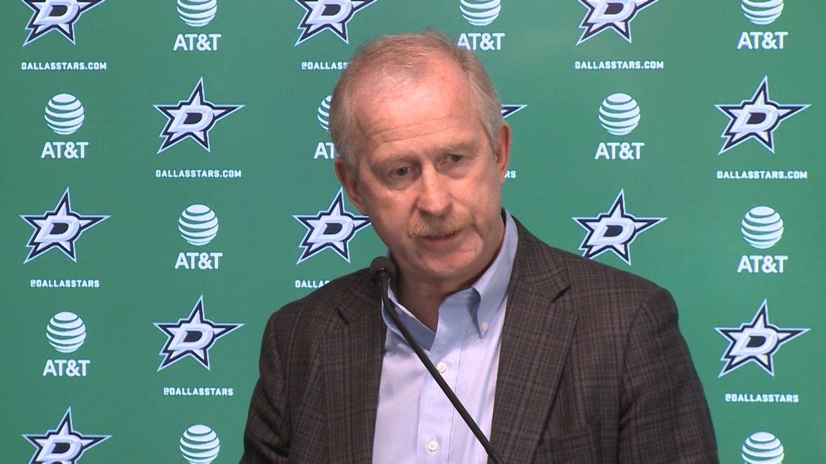 Stars GM Jim Nill addresses the media regarding the retirement of head coach Ken Hitchcock.