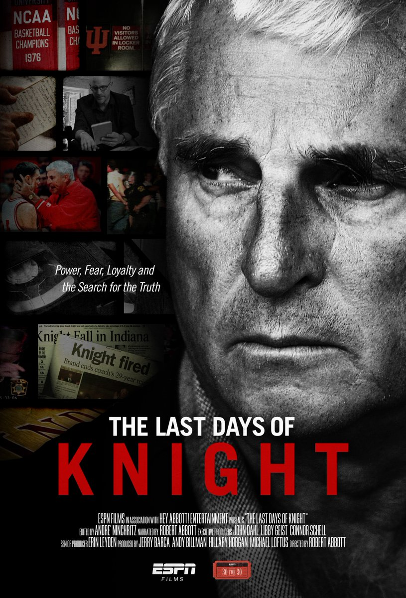 #30for30 #TheLastDaysOfKnight is available NOW on ESPN+. Start your FREE trial today! es.pn/2qvwpT1