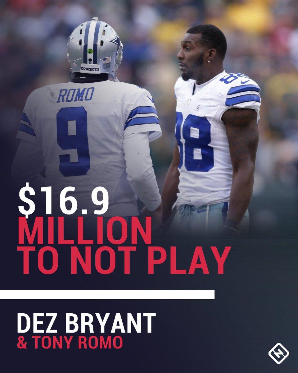 Tony Romo Dez Tony Romo Dez Bryant Contracts Eat Lot