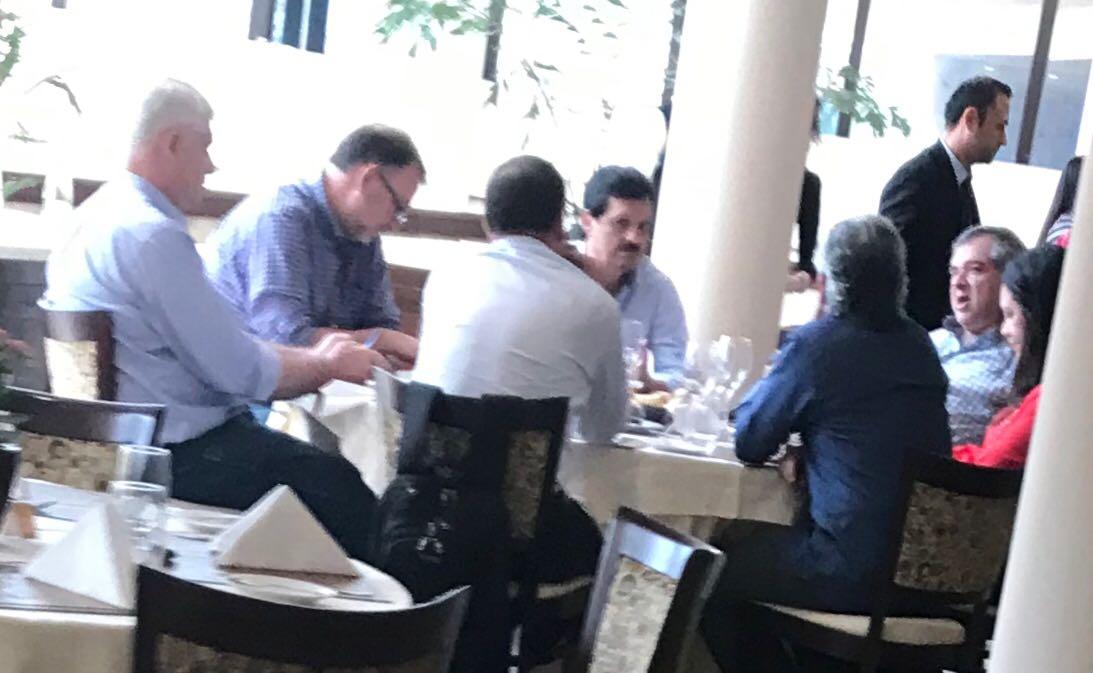"""Alianza Ganar on Twitter: """"Que interesante ver a Capli y Grau con el equipo de campaña de Mario Abdo, Rubiani, Arnoldo Wiens, Benigno López, Pilar Medina y Cardenas. Por sus caras de"""