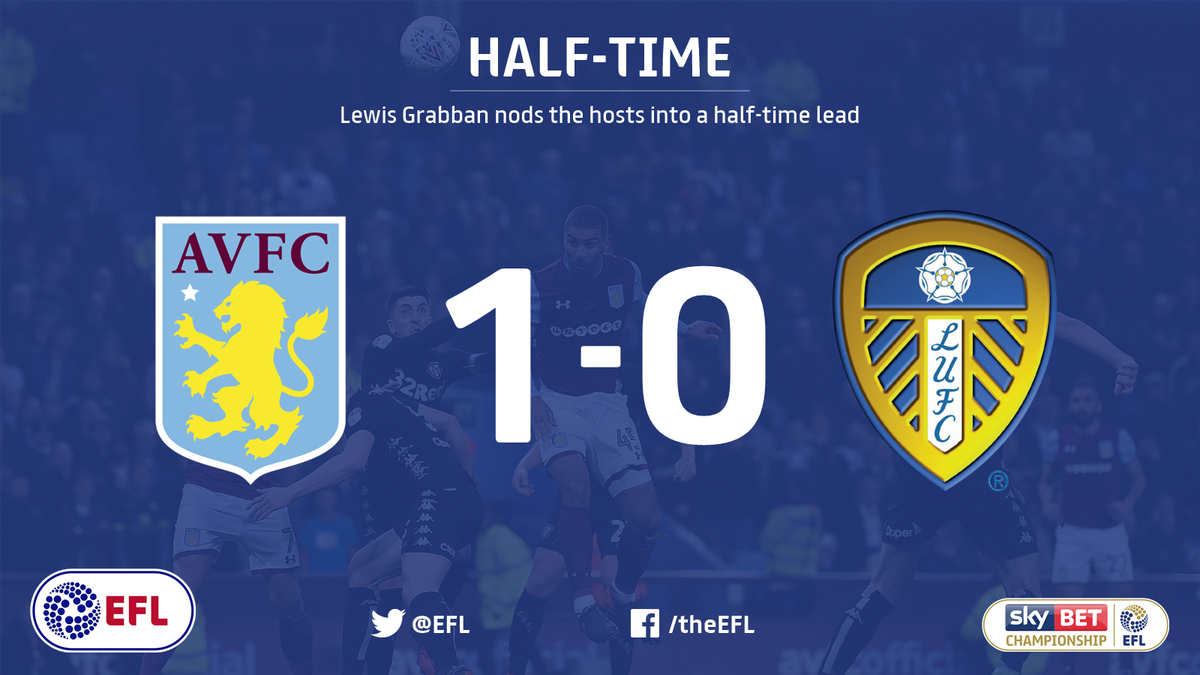 We've reached the halfway point. Lewis Grabban's fifth @AVFCOfficial goal has put the hosts ahead.