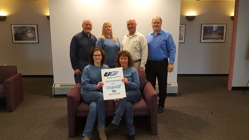 test Twitter Media - UGI employees show their support for the Northeast Regional Cancer Institute's 15th annual C.A.S.U.A.L. (Colon Cancer Awareness Saves Unlimited Adult Lives) Day event by raising more than $1,500 in donations to help fight colon cancer! Thank you to everyone who donated! https://t.co/1Vzi153mM1