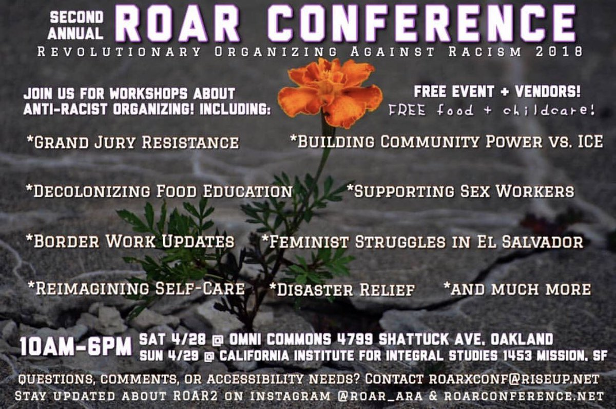 Revolutionary Organizing Against Racism Conference @ Omni Commons, Day 1, CIIS Day 2 | Oakland | California | United States
