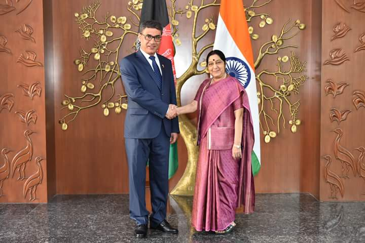 Minister for Defense for Afghanistan LTG Tareq Shah Behrami met with External Affairs Minister Smt Sushma Sawaraj today at New Delhi. LTG Behrami is in India for a 3 day visit. He attended the Defense Expo at Chennai yesterday.