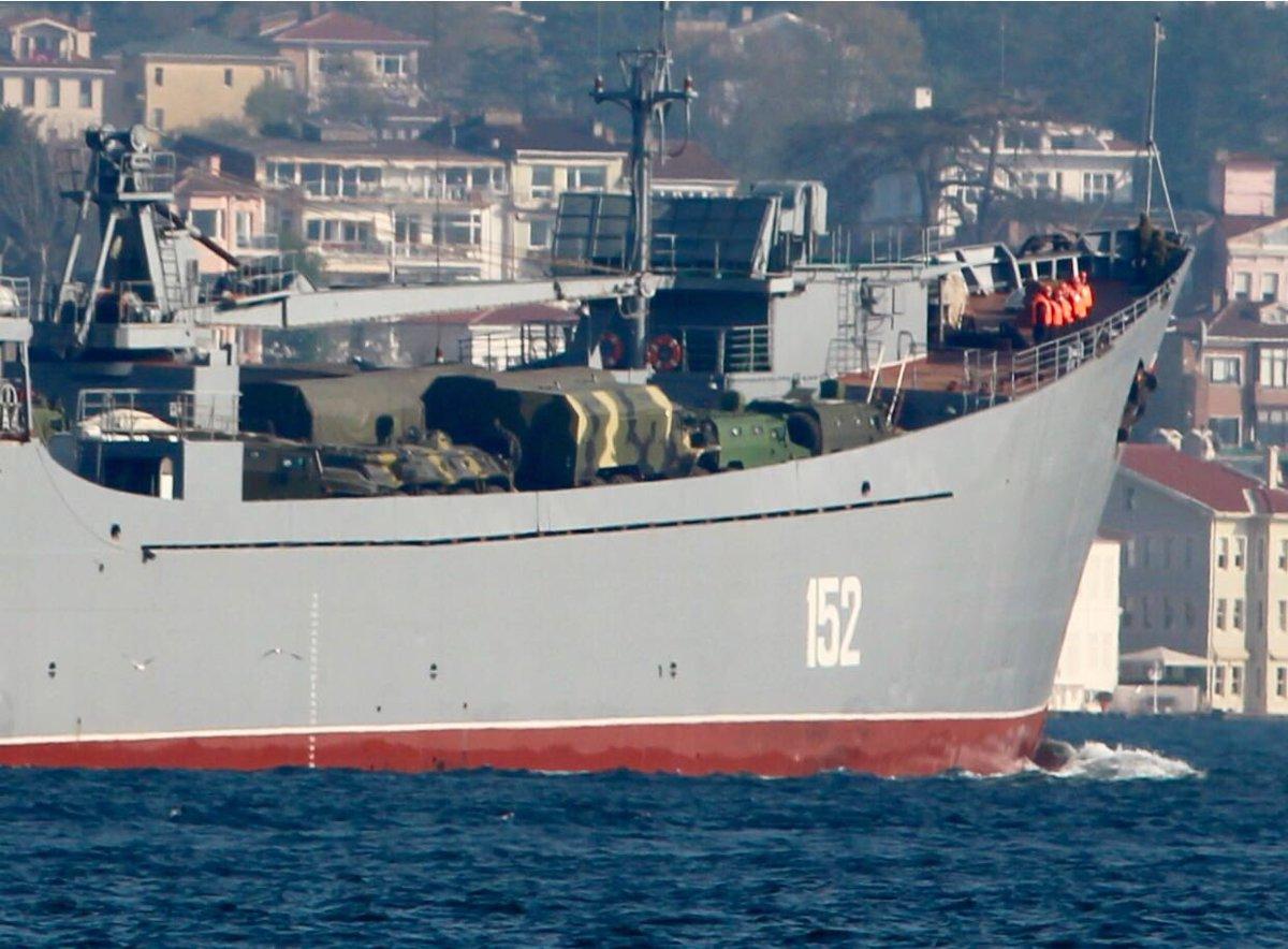 Десантный корабль России «Николай Фильченков» вошел в Средиземное море