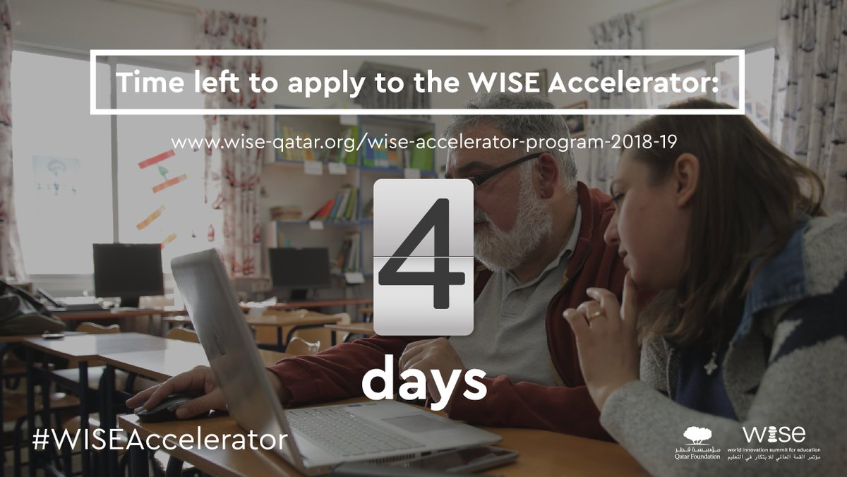 Do you need some expertise for your #edtech initiative?  Apply now and until April 24 to the #WISEAccelerator:  https:// bit.ly/2nWIuPZ  &nbsp;   #education #accelerator <br>http://pic.twitter.com/ulzdZy7e3L