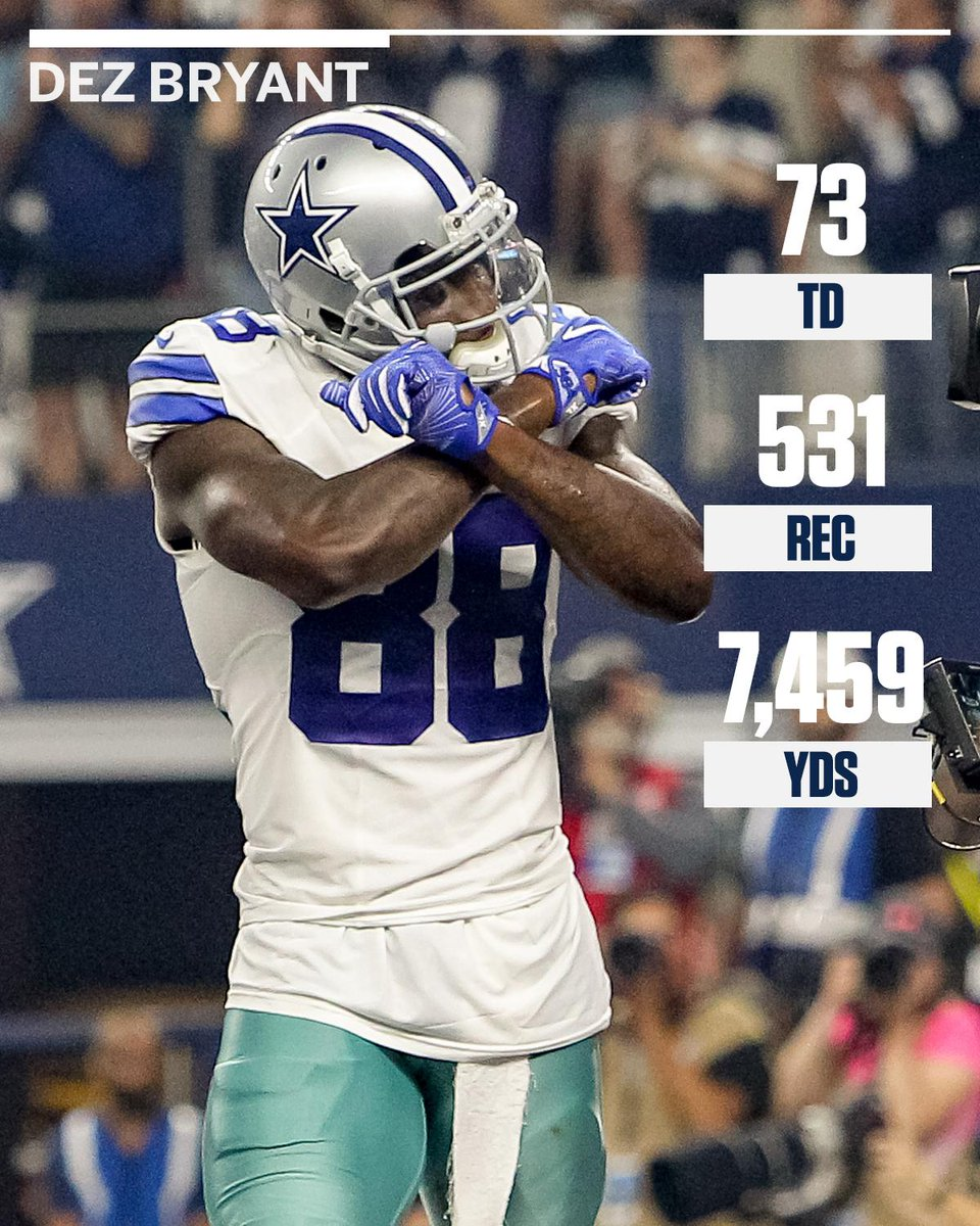 Espn On Twitter Dez Bryant S 73 Touchdown Catches Are The
