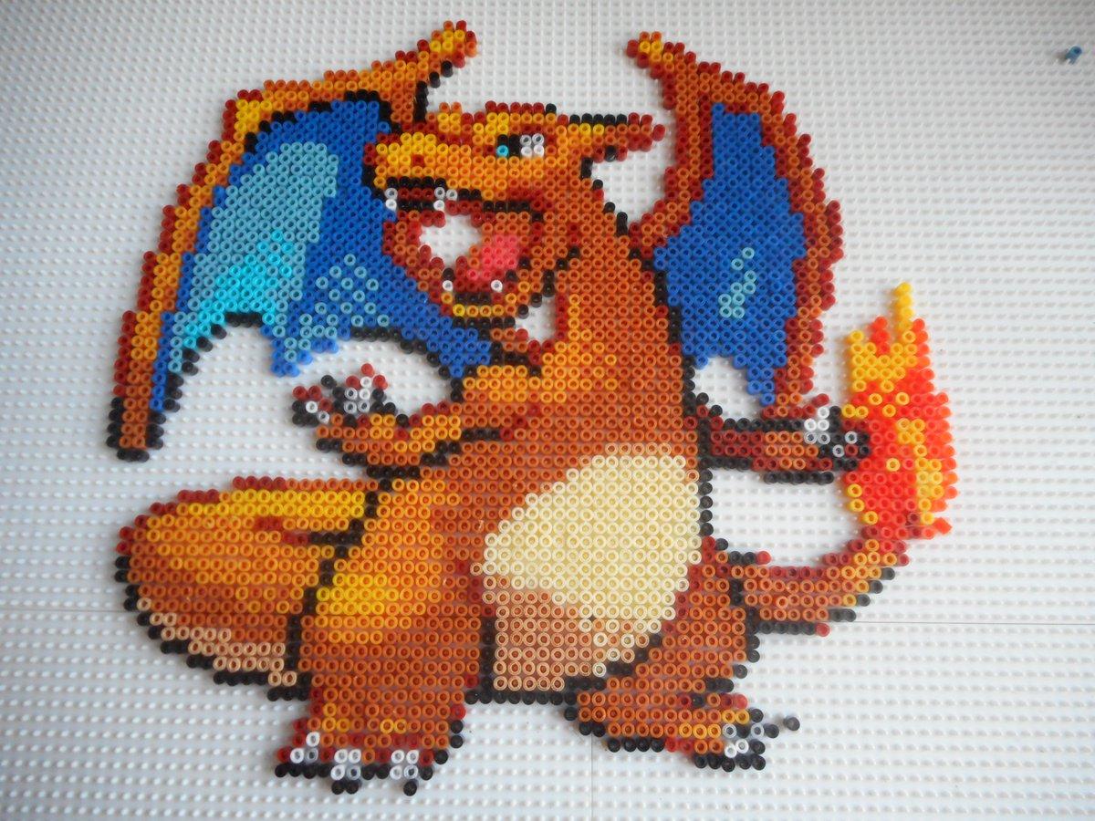 Pixel Art Pokemon Dracaufeu