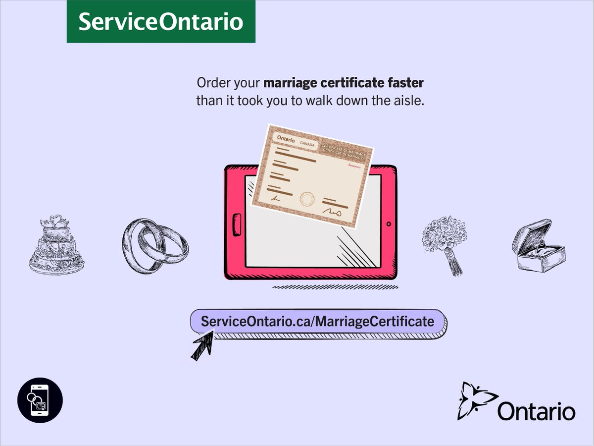 Serviceontario Twitter Say I Do To Getting Your Marriage