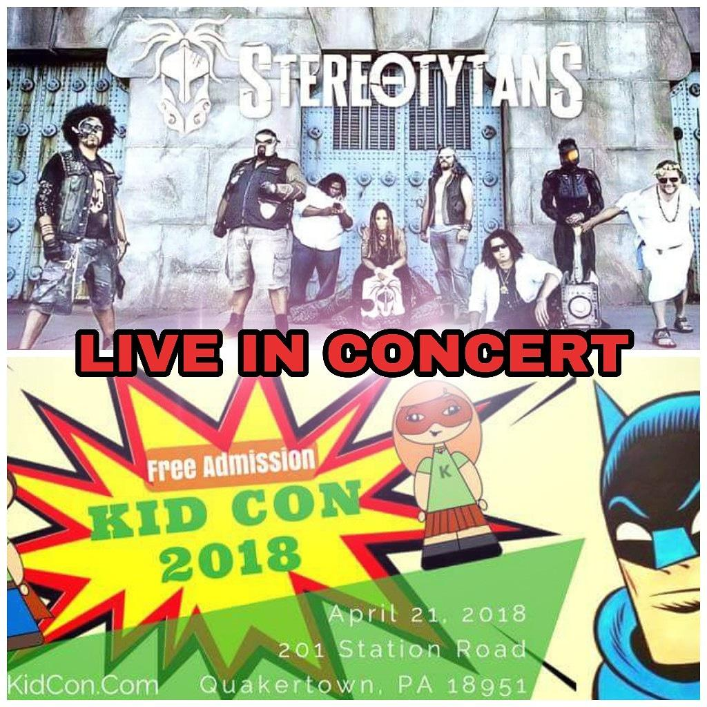 Stereotytans On Twitter Saturday April 21st We Are Live At Kid Con