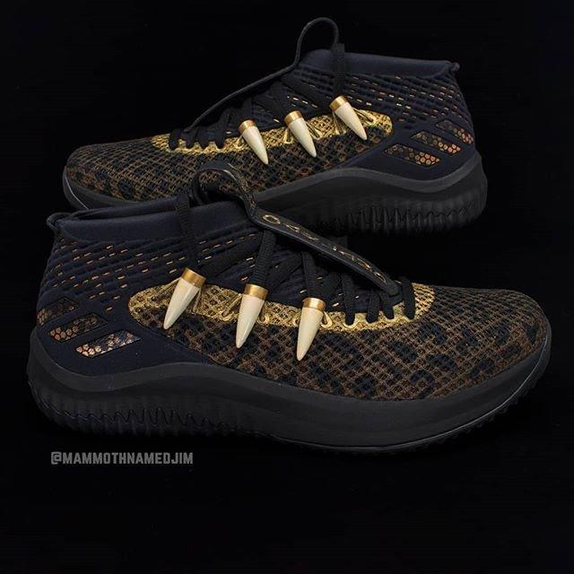 san francisco 327ae 6b1f3 dame 4 adidas black panther