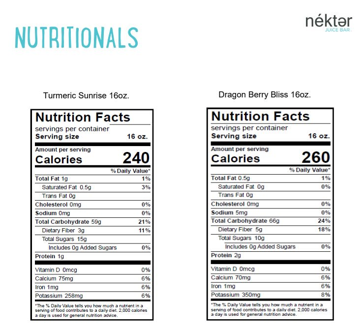 Nekter juice bar nutritional info nutrition ftempo for Wahoo s fish taco menu nutrition