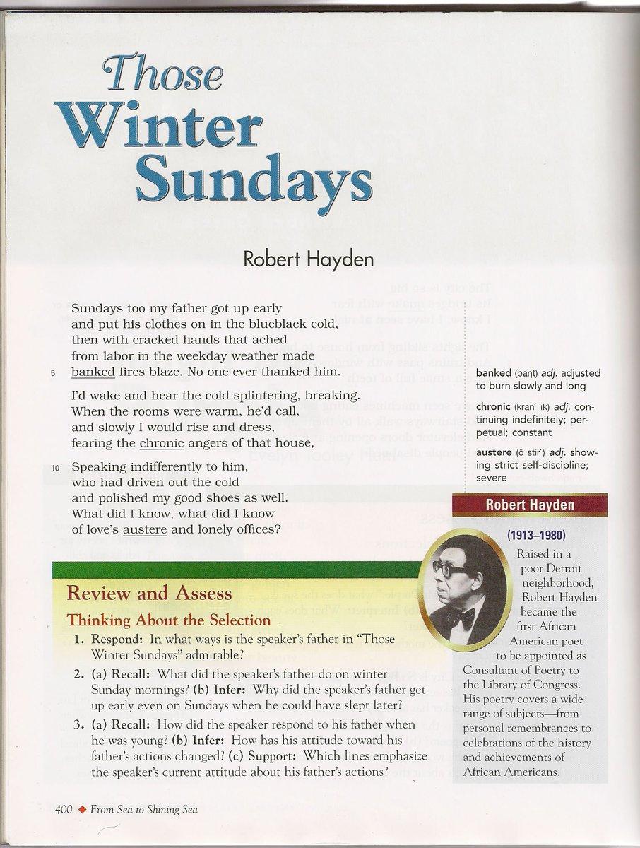 those winter sundays meaning