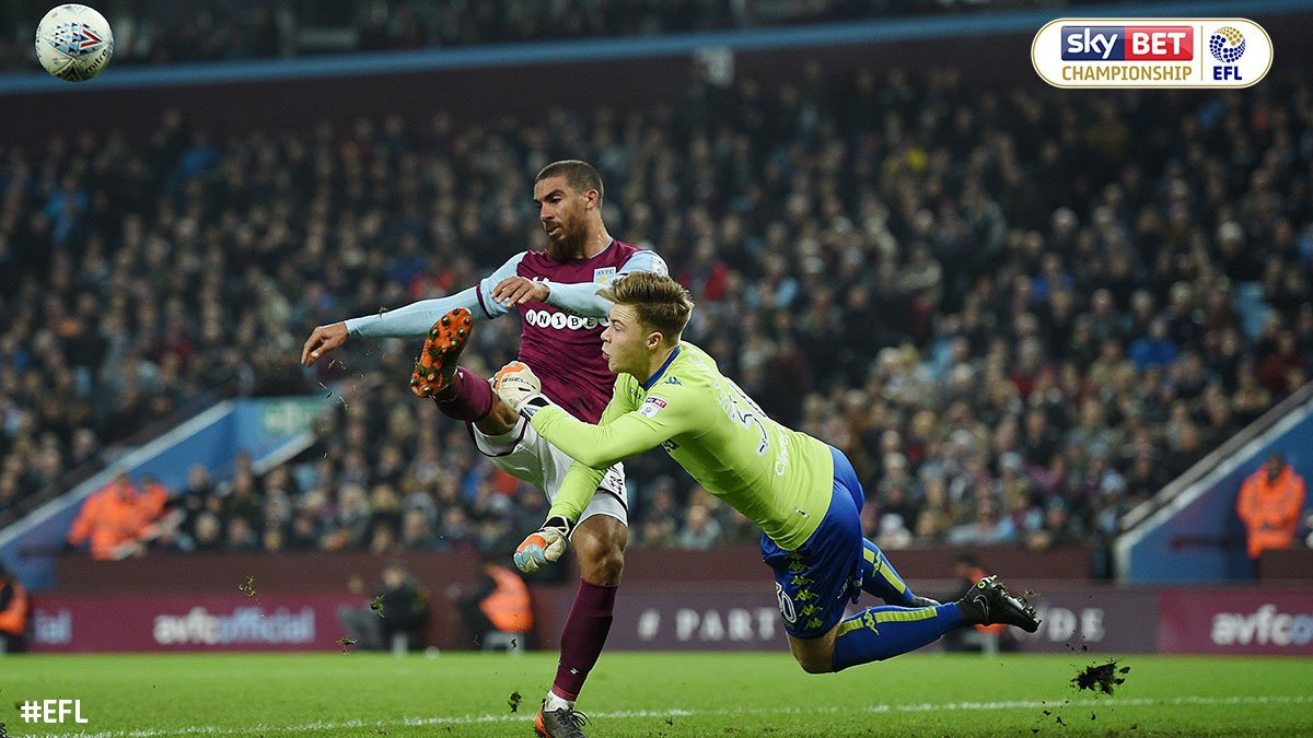 15 minutes remain and @AVFCOfficial's one-goal lead over @LUFC remains intact. It could be more had it not have been for one young shot-stopper.