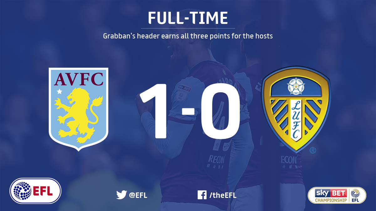 The full-time whistle sounds. Automatic promotion remains a possibility for @AVFCOfficial following a narrow win over @LUFC.
