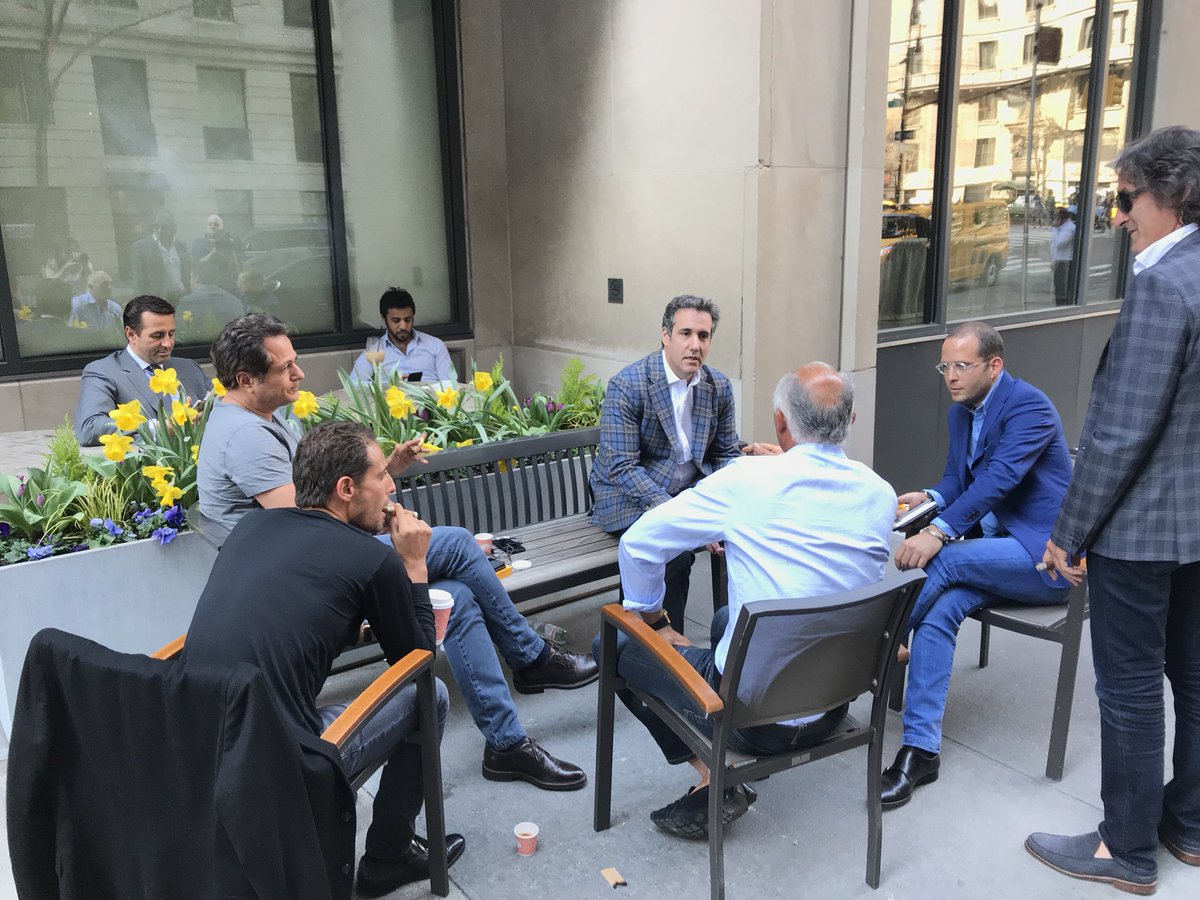 Image result for photos of michael cohen with his russian friends