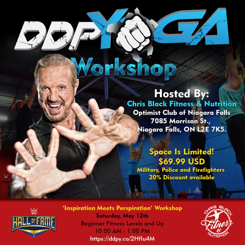CANADA are you ready for a DDPY Workshop! @RealDDP and @BrendaKayPage are headed to NIAGARA FALLS for a workshop on May 12th, hosted by Chris Black. Lets pack the room, eh. #meetddp ddpy.co/2HfIu4M