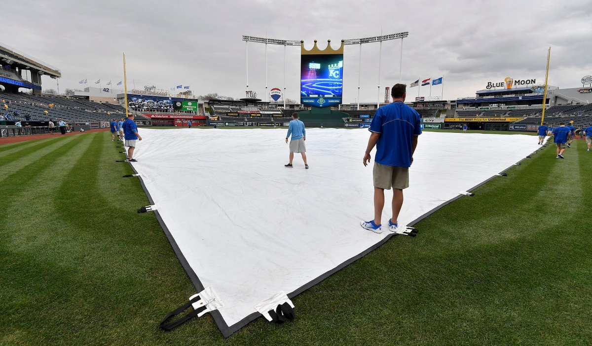 Waiting on the rain before @Royals vs @A...