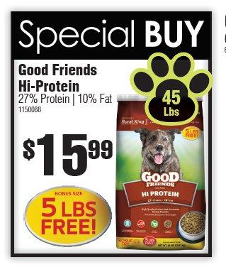 good friends dog food