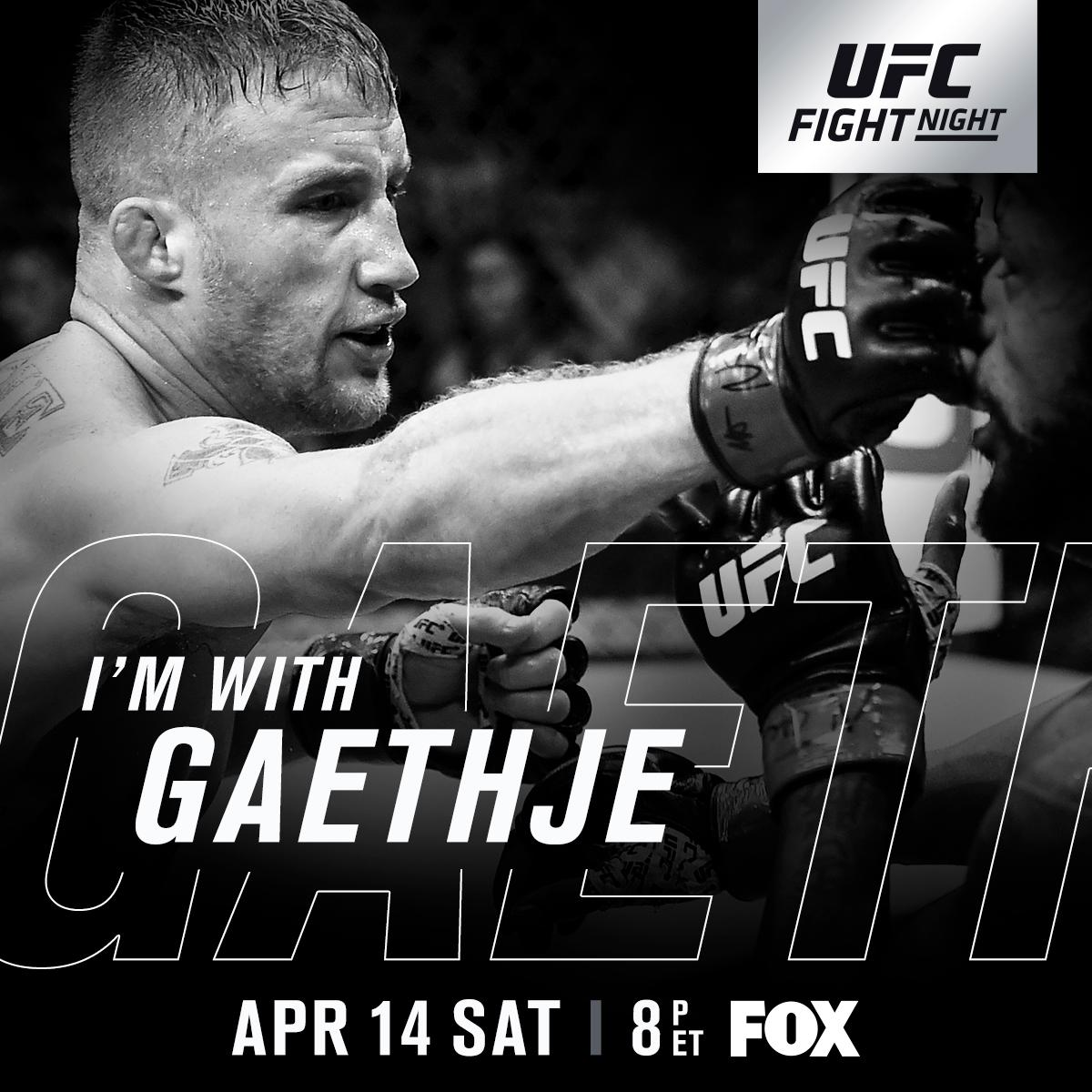 RT if youre w/ The Highlight @Justin_Gaethje at #UFCGlendale | Saturday, April 14 | LIVE & FREE on BIG @FOXTV!