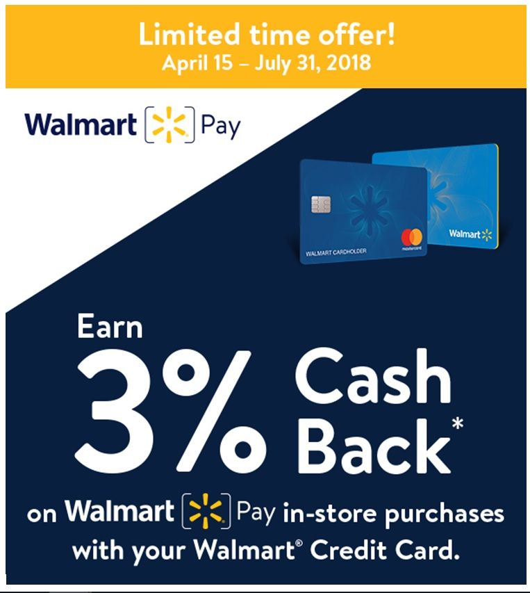 Doctor Of Credit On Twitter Walmart Credit Card 3 Cash Back On