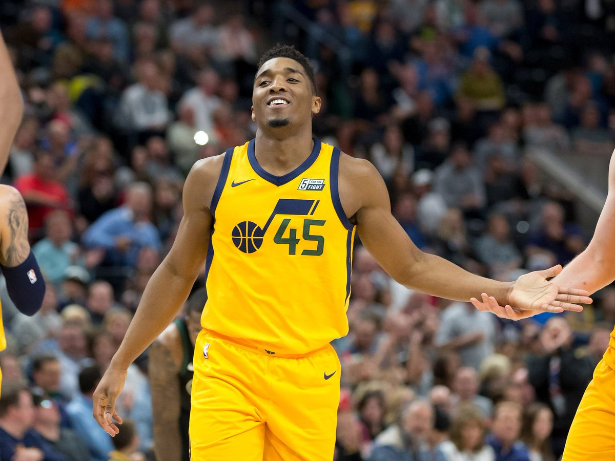 Donovan Mitchell made 187 three-pointers this season, which is the most in a season for a rookie in NBA history. He also recorded 46 games with 20-plus points this season, which is the most by any rookie.  #JazzNation #jazz #TakeNote