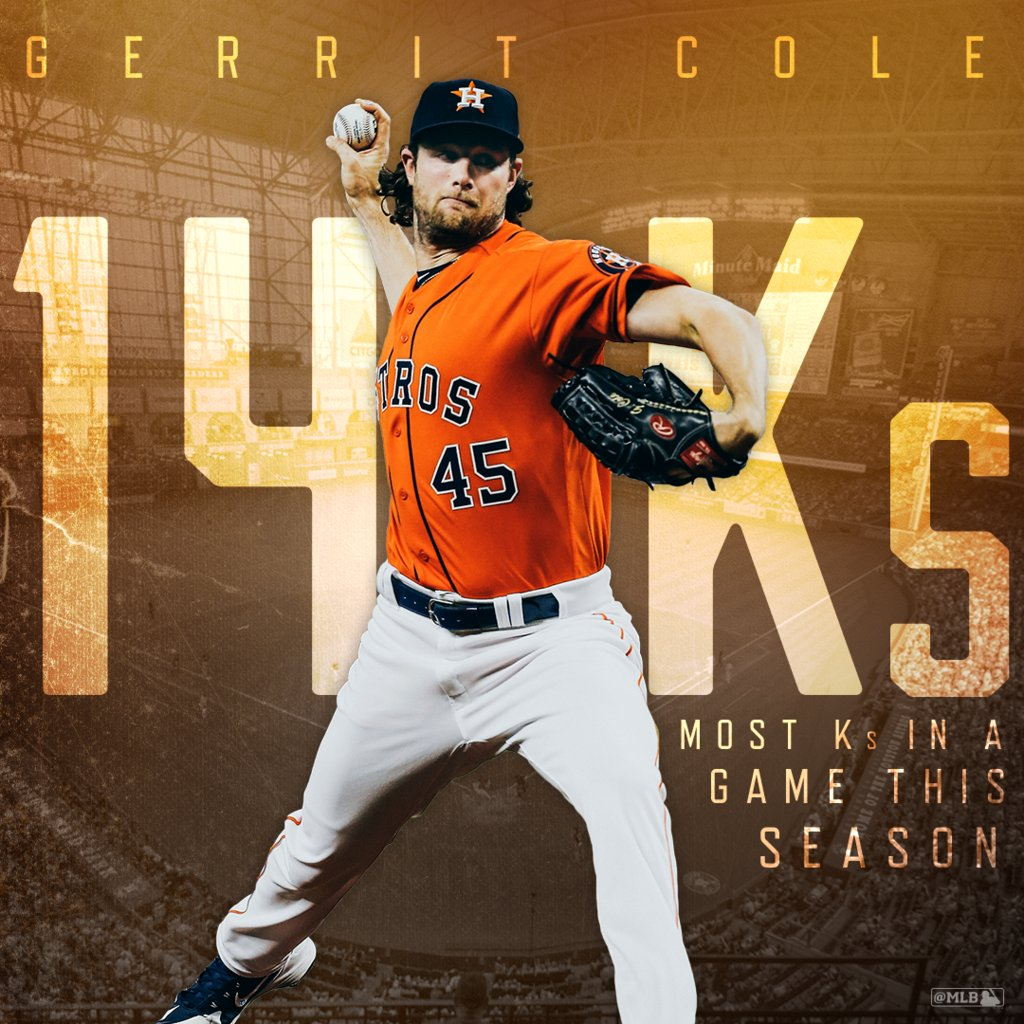 The #ColeTrain just keeps rolling in Houston. https://t.co/59A4PcfEfI