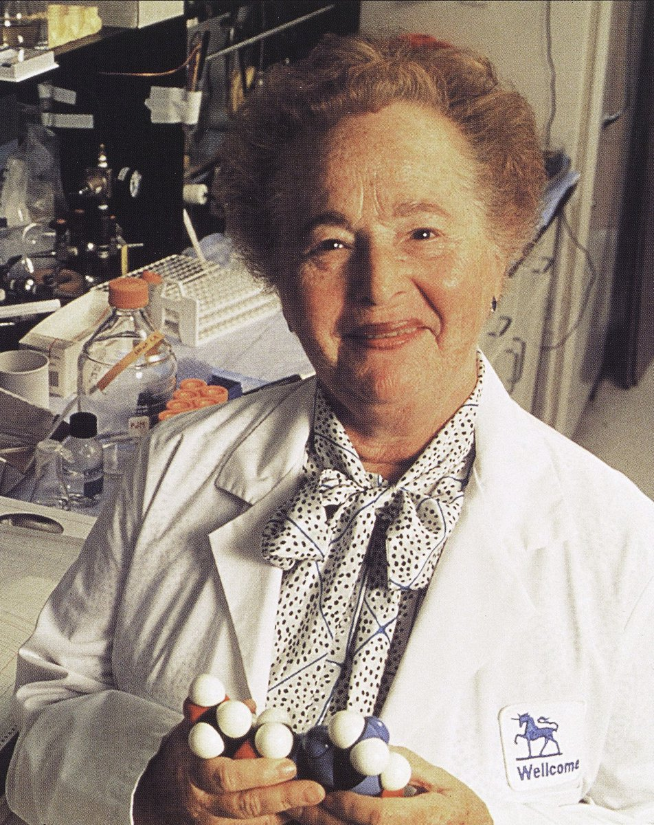 Nobel Laureate Gertrude Elion obtained her chemistry masters while working as a teacher doing research at night and weekends. Her hard work paid off. In 1988 she was awarded a #NobelPrize for developing new ways to design drugs instead of producing them from natural substances
