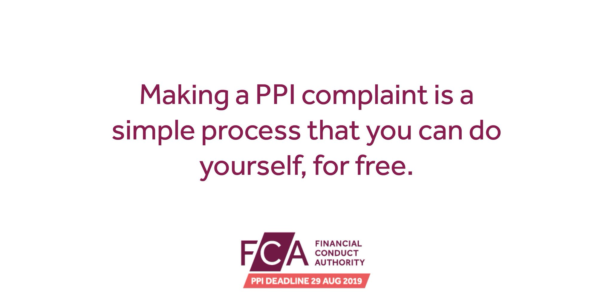 The fca ppi deadline on twitter did you know that you can make a the fca ppi deadline on twitter did you know that you can make a ppi complaint yourself for free all you need is your name date of birth and previous solutioingenieria Gallery