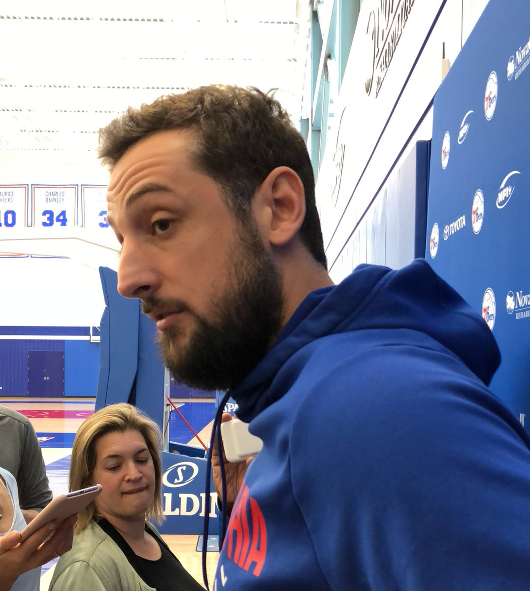 A title winner with Spurs, Belinelli hopes Sixers now put 16-game win streak in past.   Thinks Game 1 important to setting tone.