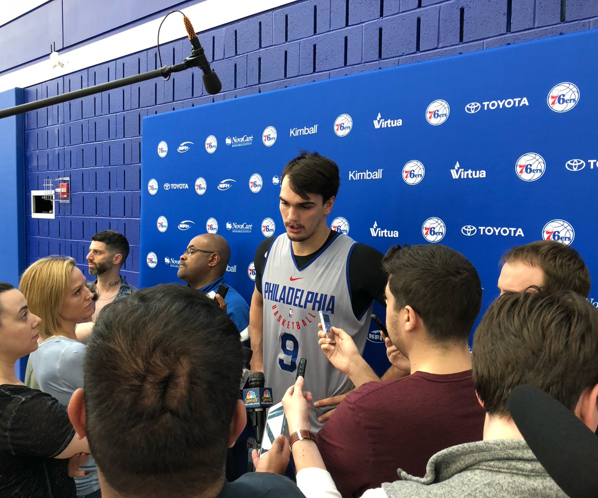 "Dario Saric thinks everyone on Sixers has chance to be an x-factor in series, ""like a Nick Foles."""