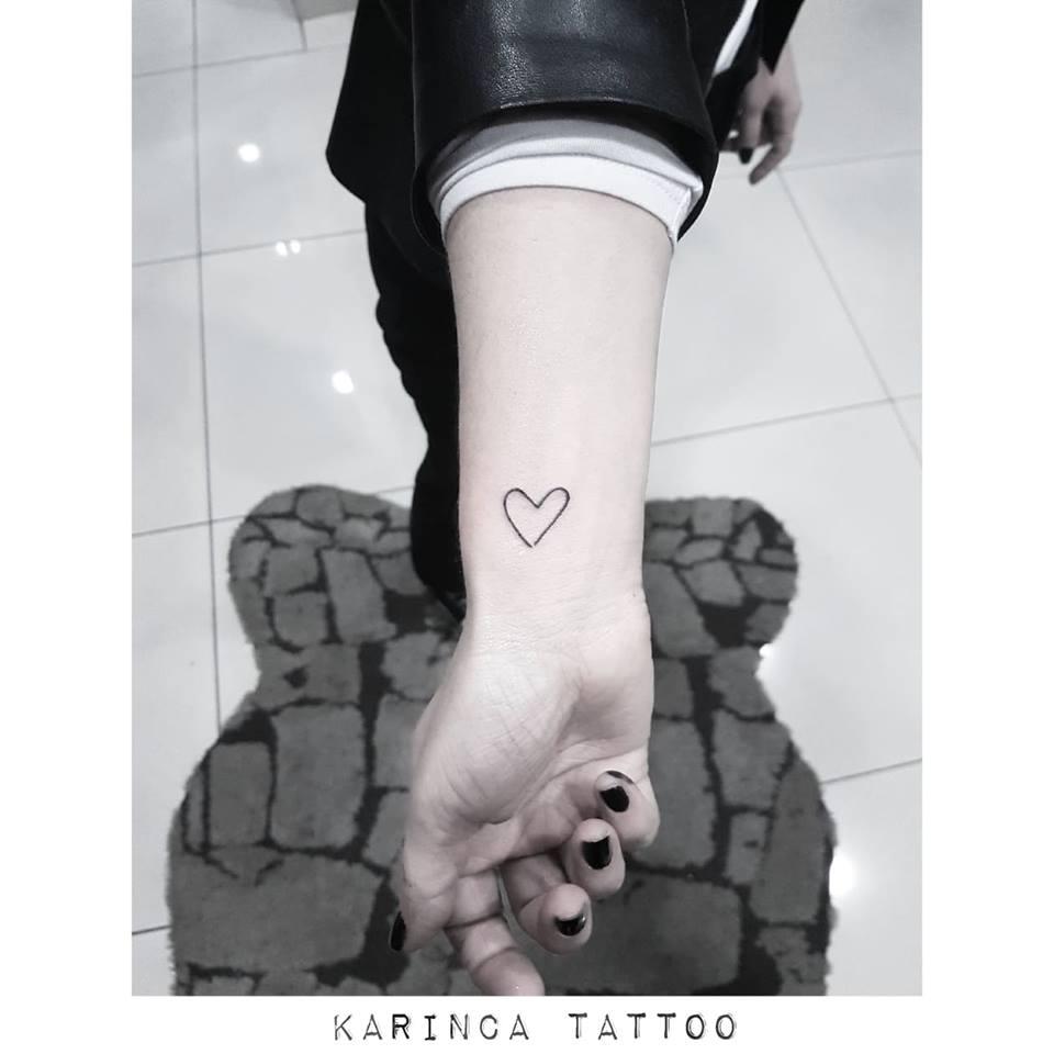 Heart Tattoo Kalp Minimal Small Little Armtattoo
