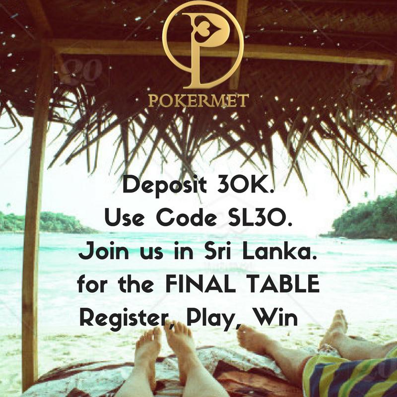 Poker Met On Twitter Get Ready For Sri Lanka Deposit 30k Use Code Sl30 Join Us In Sri Lanka Register Https T Co Spiogkwnlf Pokermet Pokerlife Pokeronline Onlinegaming Successquotes Srilanka Depositreturnscheme Perfect Tourneyx Codes
