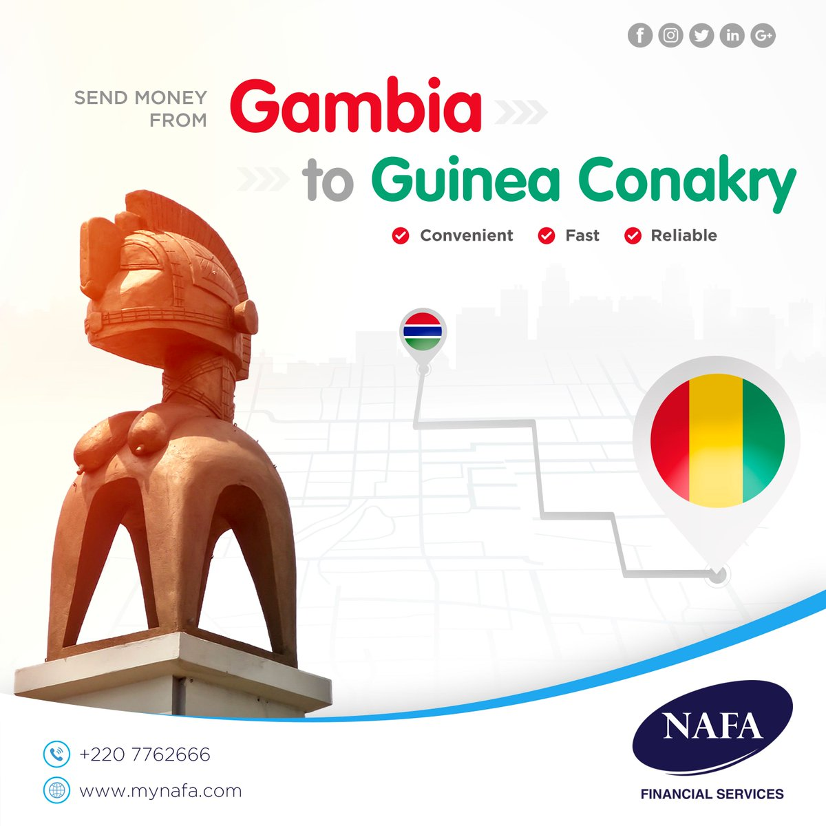 Way To Send Money From Gambia Guinea Conakry Contact Nafa Financial Services 2207762666 We Offer Great Rates And Exceptional Service