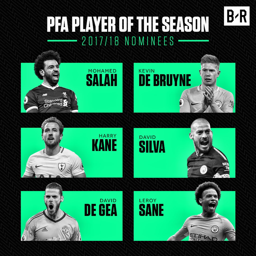 The PFA Player of the Season nominees are confirmed