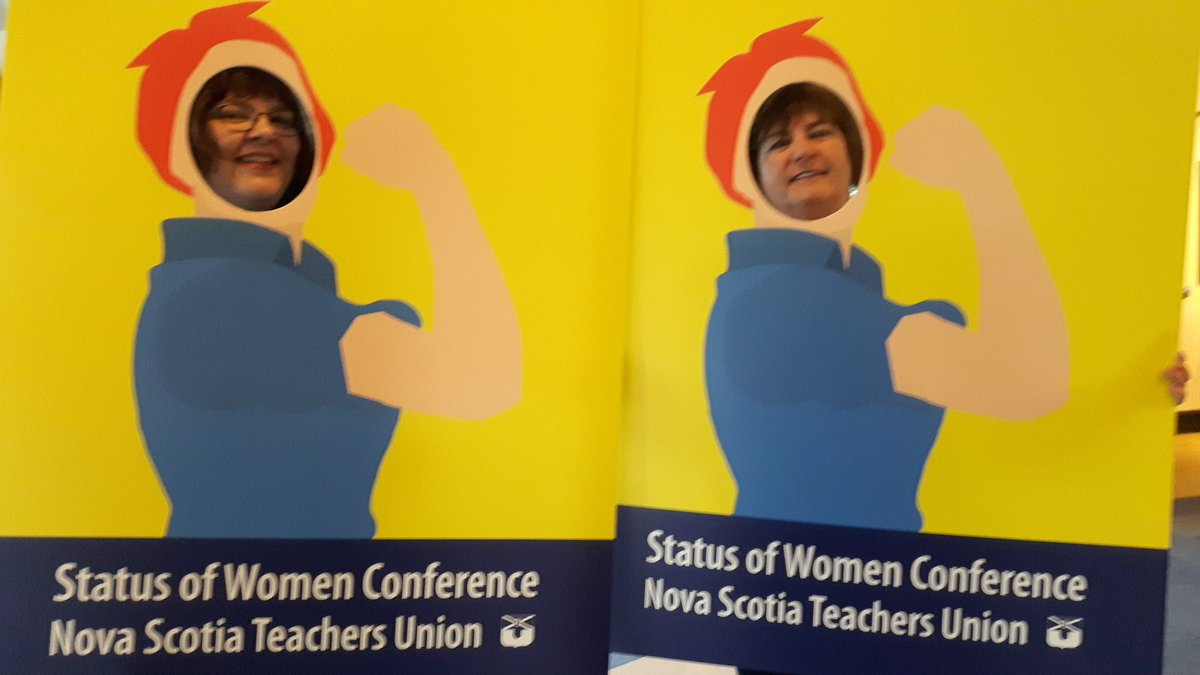 #LP @LMMcCulley &amp; I at  #StatusOfWomen Conference 2018 @KingsNSTU local representing - #RosieTheRiveter #BeStrong #WeAreHere #sisters #unionism #WeRise #EmpoweredWomenEmpowerWomen | @NSTeachersUnion @CanTeachersFed @EqualVoiceCA<br>http://pic.twitter.com/kxAKUlfr1Y