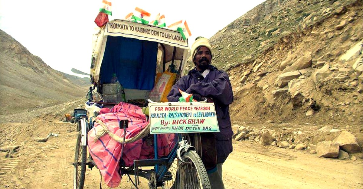 thebetterindia.com/137862/ladakh-… From Naktala To Khardung-La: The Story Of An Incredible Cycle Rickshaw Puller