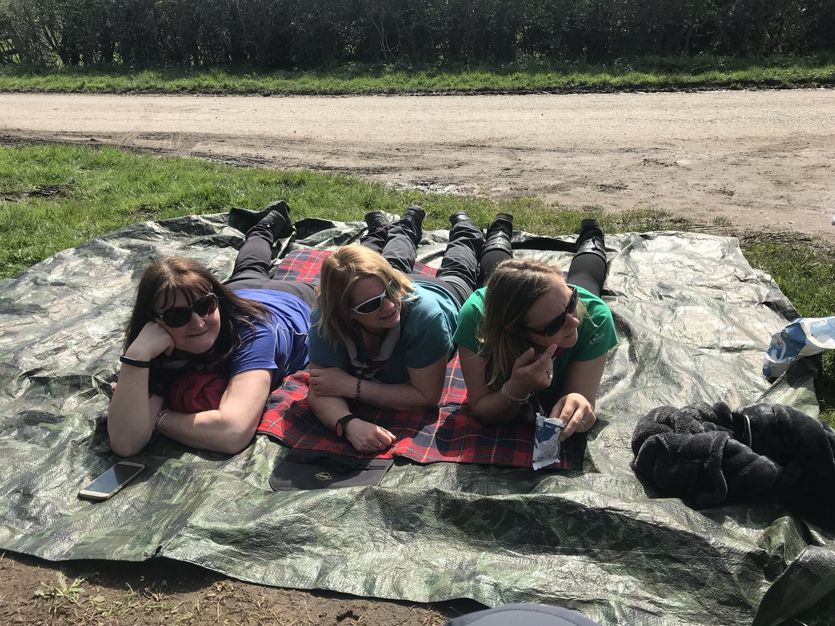 Caption Comp time! Catching some rays before the first teams come through CP27 #cheshirehike @merseyweaver @CheshireHike @CheshireScouts<br>http://pic.twitter.com/J0tMHxqLYy