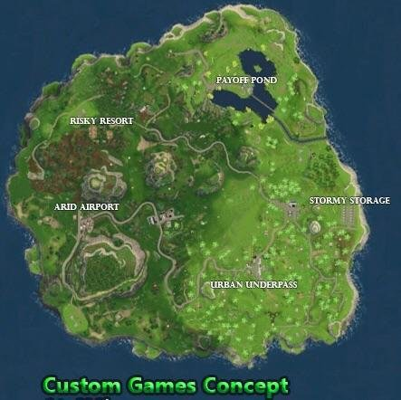 Fortnite Season 5 News On Twitter Fortnite Battle Royale Idea Once Custom Games Have Been Added For Games With Less Than 20 Players There Should A New And Smaller Map Fortnitebattleroyale